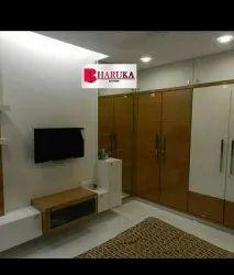 Bharuka door Wooden Bedroom Wardrobe, For Home