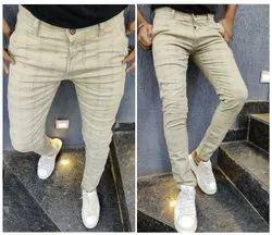 Men Check Chino Trousers