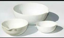 White Heating Evaporation Dishes Porcelain, Size: 125 Ml