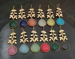 Stone lefe earrings