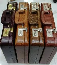 Brown Men Leather Briefcases