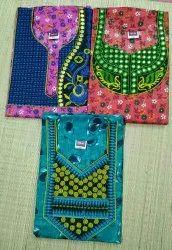 Half Ladies Night Wear Embroidery mirror work nighty cotton with pockets, Size: Xl xxl, 25