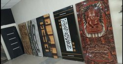 Wood Laminated Designer Doors, Thickness: 30 Mm