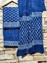 Block Print Unstitched Salwar Suit Fabric