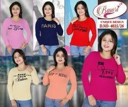 Bawri Hosiery Ladies Full Sleeve T Shirt, Age Group: 8-25