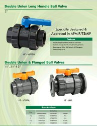 Harit Union Type Pvc Ball Valve, Valve Size: 1.25 To 4