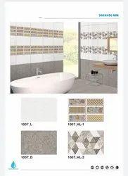 Gloss Ceramic Bathroom Tiles, Thickness: 5-10 mm
