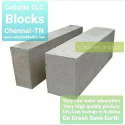 Cellolite Rectangular Cellular Lightweight Concrete CLC & AAC Blocks, For Partition Walls, Size: 24x8x6inch