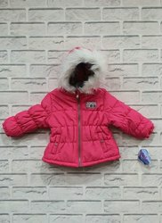 Plain Pink Kids Jacket, Full Sleeves