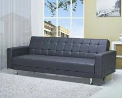 Black Office Sofa, Size: 5 Feet, Seating Capacity: 4 Seater