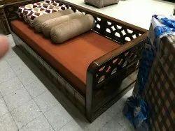 Wooden Modern Sofa Kum Bed, For Home