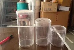 600 ml PVC Cylindrical Food Box