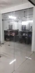 Hinged Plain Office Glass Door, Thickness: 10 Mm