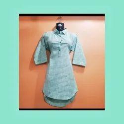 Cotton Casual Wear Mid length kurti, Size: L xl xxl, Wash Care: Machine wash