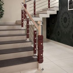 SSM65 Stainless Steel Wooden Stair Railing