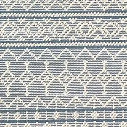 Rectangular Handmade Wool Pile Rug/ Natura Blue And Ivory Rug / Knotted Wool Rug, For Hotel