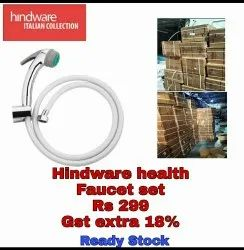 Round Hindware Health Faucet, For Bathroom, Handle Type: Chrome