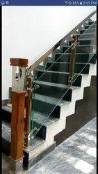 SSM47 Stainless Steel Glass Stair Railing