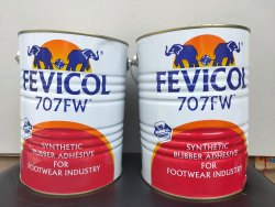 Pidilite Fevicol 707 Fw Rubber Adhesive, 25 Litres, Tin Can
