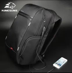 Polyester Plain Kingsons Bags, For Casual Backpack