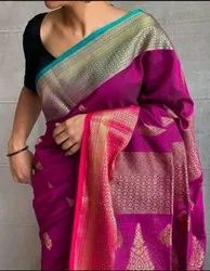Handloom Cotton Zari Weaving Saree