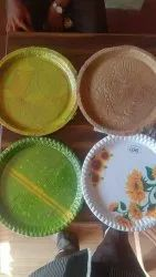 Multi Colour Round 12 Inch Buffer Paper Plate, Paper Gsm: 300 Gsm