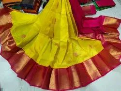 Gadwal Party Wear Silk Saree, 6.3 m (with blouse piece)