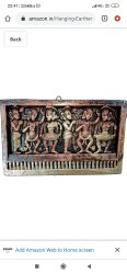 Golden Square Terracotta Clay Wall Hanging, For Gift