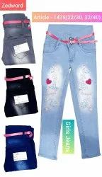 Girls embroidery Jeans
