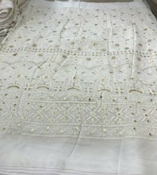 Pakistani Dyable Lucknowi Chikan Pure Georgette Suits