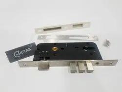 Chetak Mortise Door Lock Body, Nickel, Size/Dimension: 45 X 85 Mm