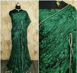 Fashionable net saree smb