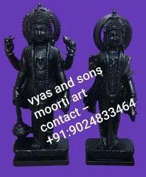Black Stone Vishnu Laxmi Moorti