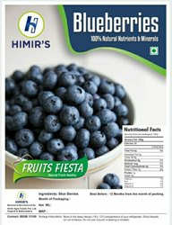 Natural Frozen Blueberries