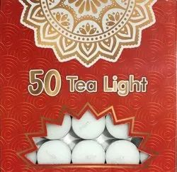 White Cylindrical Tea Light Candle, For Diwali 540 Grms
