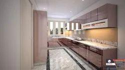 Stainless Steel Rose Gold Mirror Finish Modular Kitchen