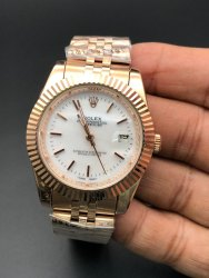 Rose gold Stainless Steel Rolex Datejust watch