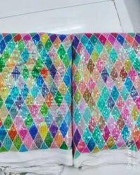 Digital Print Rainbow Party Wear Designer Fabric