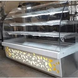 Seven star Grey Sweet Display Counter, For Hotel