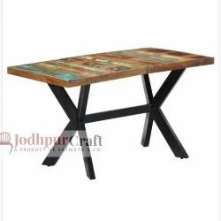 Reclaimed  wood top dinning table