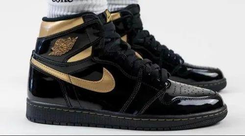 Men Black Nike Air Jordan Shoes, Size