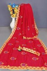 Embroidered Chana Silk Fabrics