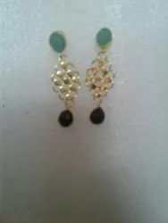 Gold Plated Stone Earring