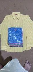 Abu Textile Collar Neck Mens Formal Cotton Shirt, Handwash