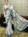 Hand Batik Prints On Mulmul Cotton Sarees