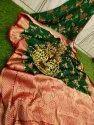 Handloom Banarasi Silk Sarees With Meenakari Work