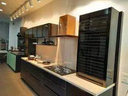 Crystal Glass Modular Kitchen