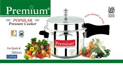 Premium Silver Pressure cooker, For Home, Capacity: 5 L