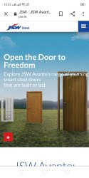 Silver Polished Jsw Combination Steel Doors, For Home, Double Door