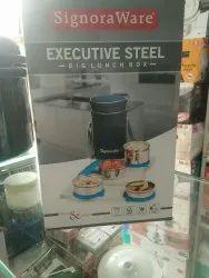 Signoraware Executive Steel Big Lunch Box